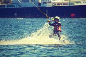 Wasserski ist Spass für Groß und Klein